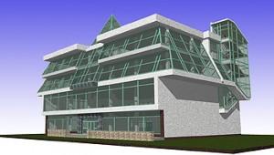 Проект реконструкции торгово-офисного здания