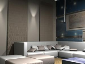 Вариант вечернего освещения в зоне отдыха гостиной